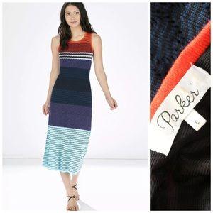 Parker Rosie Striped Knit Maxi Dress